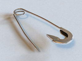 Safety Pin 3d preview