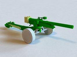 Howitzer Artillery Gun 3d preview