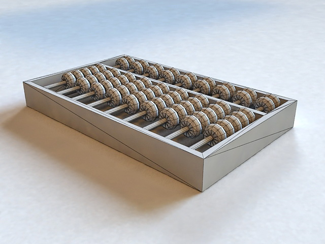 Chinese Abacus 3d rendering