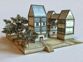 Medieval Town Buildings 3d preview