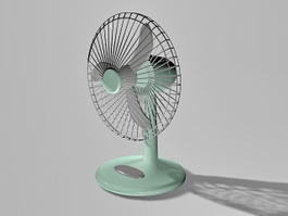 Vintage Desk Fan 3d preview