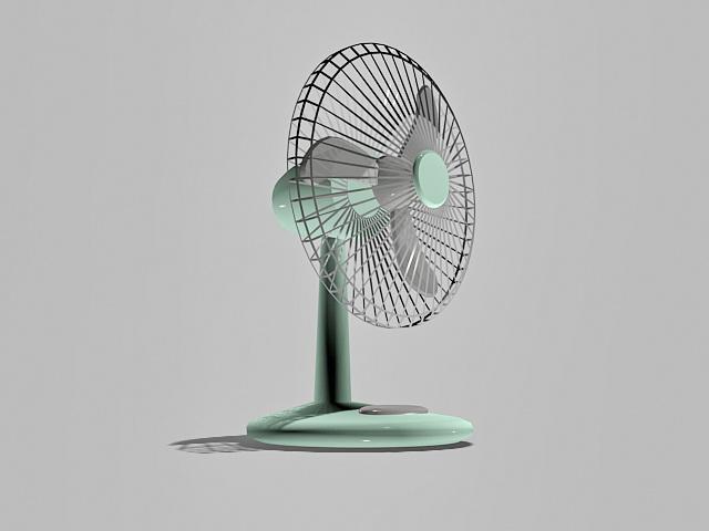 Vintage Desk Fan 3d rendering