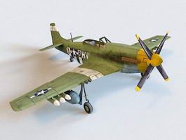 P-51 Mustang Fighter-bomber 3d preview