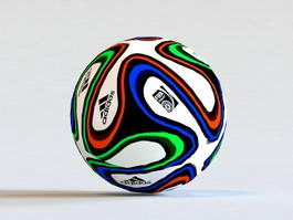 Adidas Brazuca Soccer Ball 3d preview