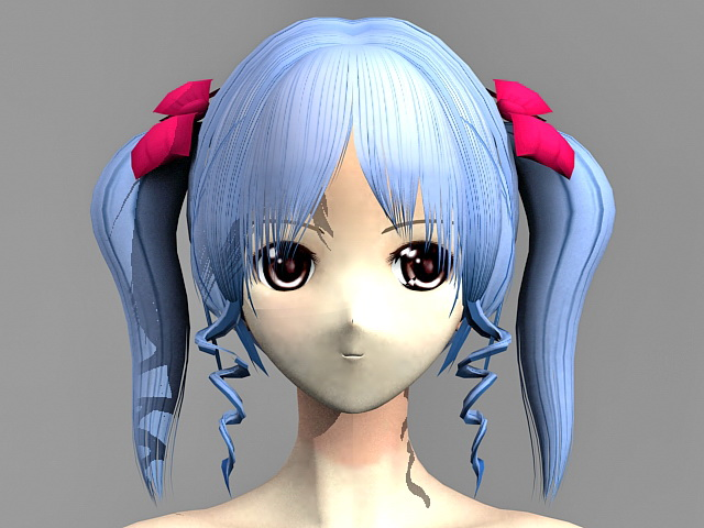 Anime Girl Nude 3d model 3ds Max,Object files free