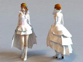 Blonde Princess 3d model preview