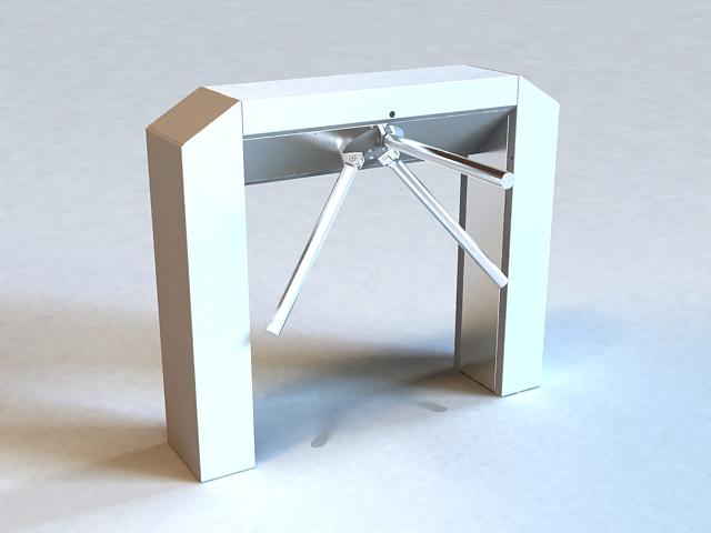 Mechanical Turnstile 3d rendering