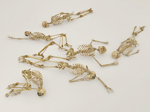 Human Skeletons 3d rendering