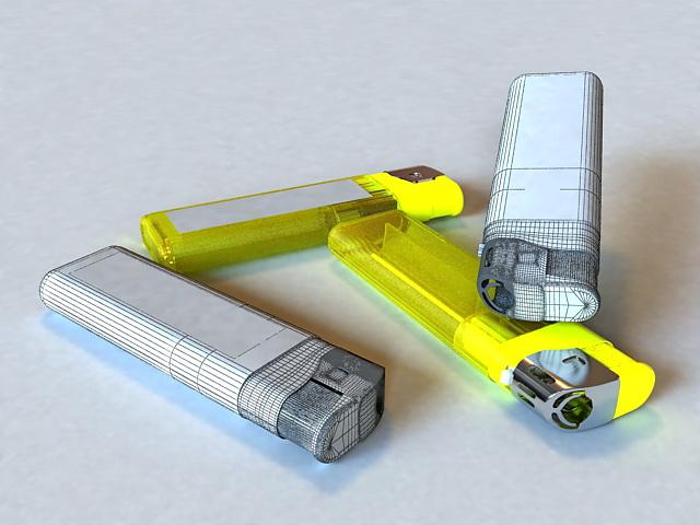 Disposable Lighter 3d rendering