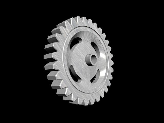 Spur Gear 3d rendering