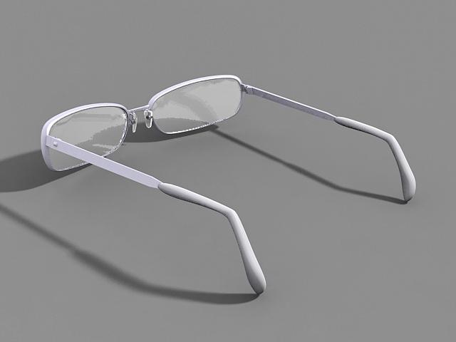 Reading Glasses 3d rendering