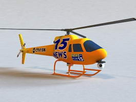 News Helicopter 3d preview