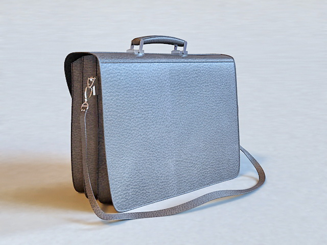 Professional Leather Briefcase 3d rendering
