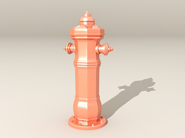Fire Hydrant 3d rendering