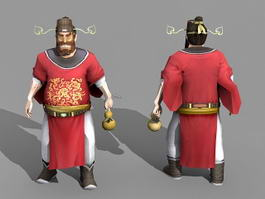 Zhong Kui Chinese God 3d preview