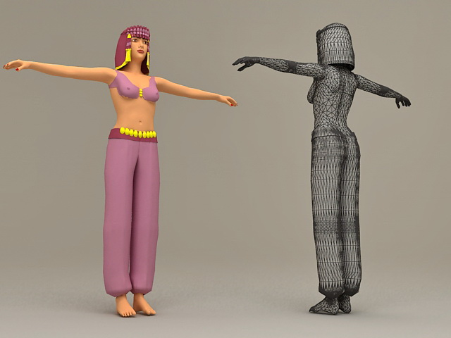 Arabian Dance Girl 3d rendering