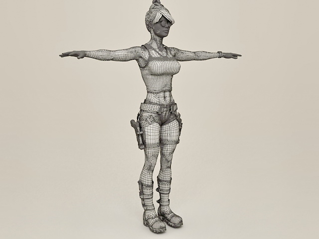 Female Fantasy Adventurer 3d rendering