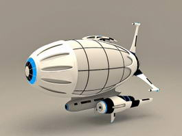 Anime Spaceship 3d preview
