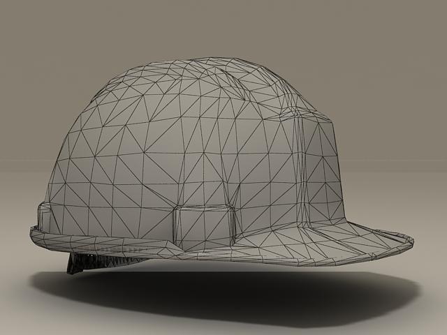 Yellow Hard Hat 3d rendering