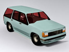 Old Station Wagon 3d preview