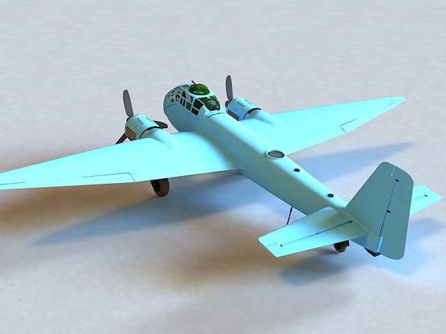 Junkers Ju 188 3d rendering