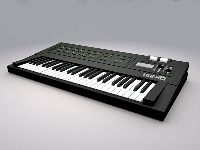 Animated Keyboard Instrument 3d rendering