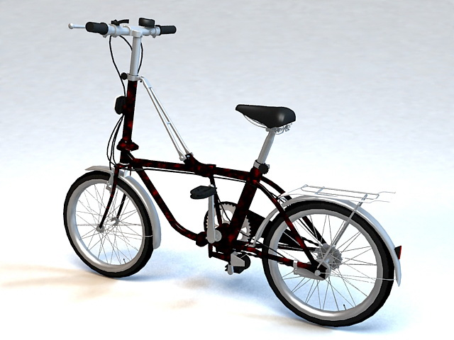 City Bike Bicycle 3d rendering