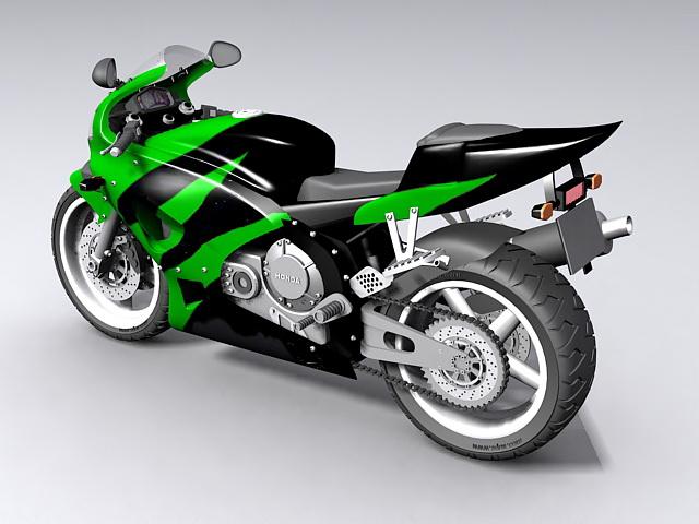 Honda Sport Bike 3d rendering