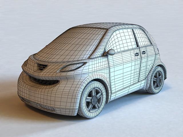 Hyundai Small Car 3d rendering