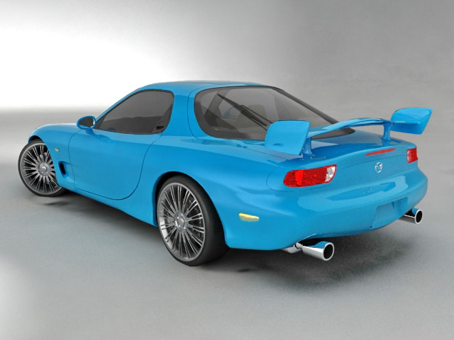 Mazda RX-8 Sports Car 3d model 3ds Max files free download ...