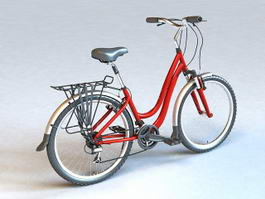 Retro Ladies Bike 3d preview