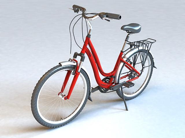 Retro Ladies Bike 3d rendering