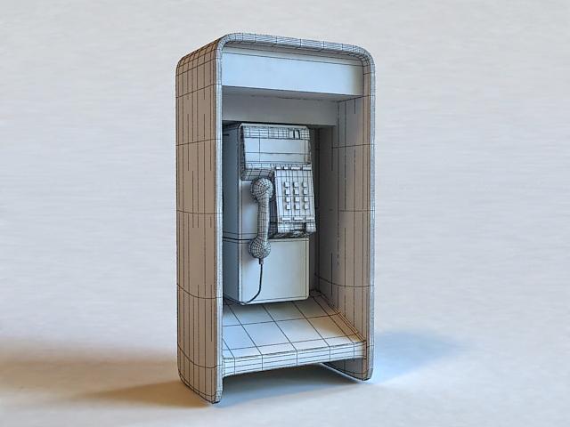 Public Call Box 3d rendering