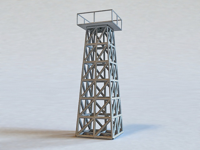 Military Guard Tower 3d rendering