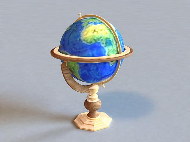 Terrestrial Globe 3d rendering