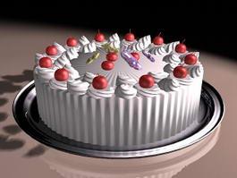 Fresh Fruit Cake 3d preview