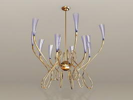 Modern Brass Chandelier 3d preview