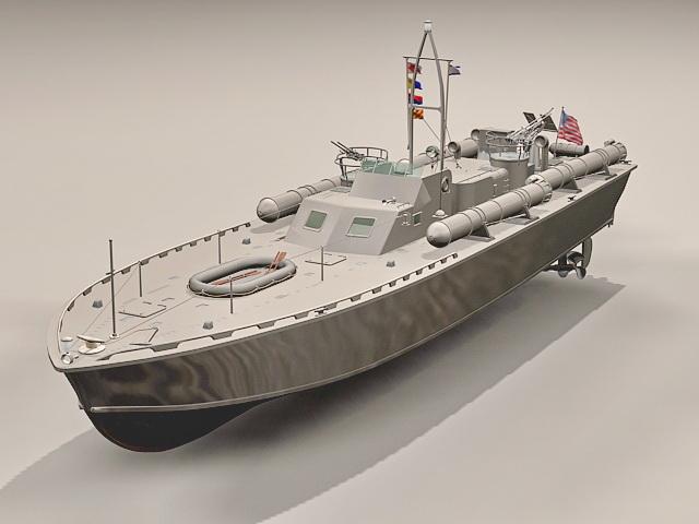 Motor Torpedo Boat PT-109 3d rendering