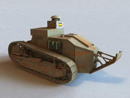 Renault FT Tank 3d preview