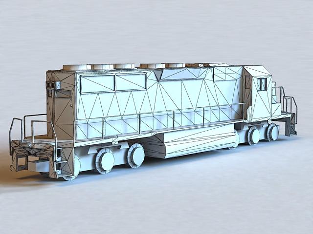 Santa Fe Locomotive Roster 3d rendering