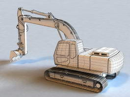 Compact Excavator 3d preview