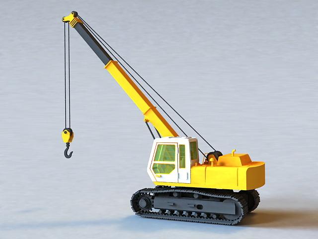 Crawler Crane 3d rendering