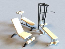 Gym Weight Set 3d preview