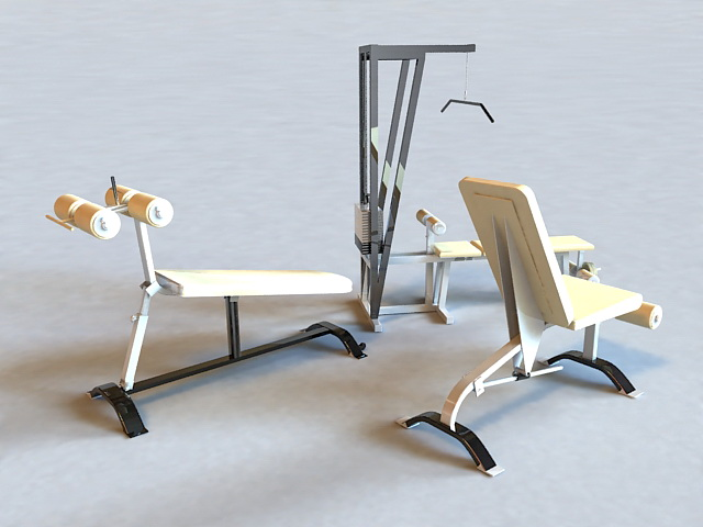 Gym Weight Set 3d rendering