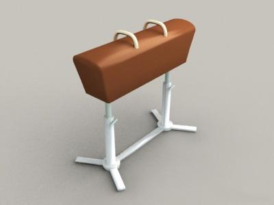 Pommel Horse 3d rendering