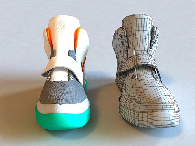 Nike Basketball Shoe 3d rendering