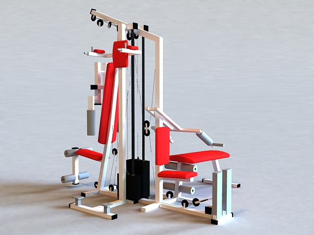 Home Gyms Exercise Equipment 3d rendering