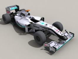 Mercedes F1 Car 3d preview