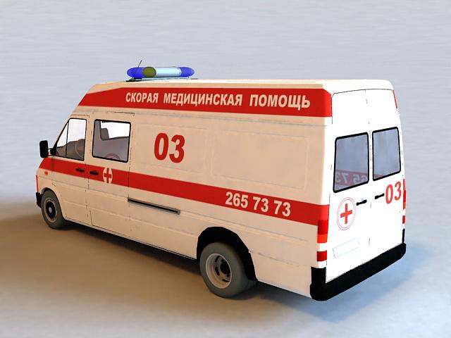 Car Ambulance 3d rendering