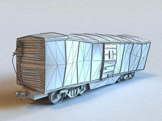 Railroad Train Wreck 3d rendering